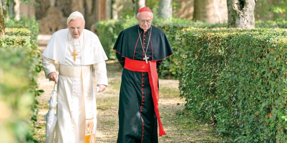 'Dois Papas': Dirigido por Fernando Meirelles e estrelado por Antony Hopkins e Jonathan Pryce, estreia hoje