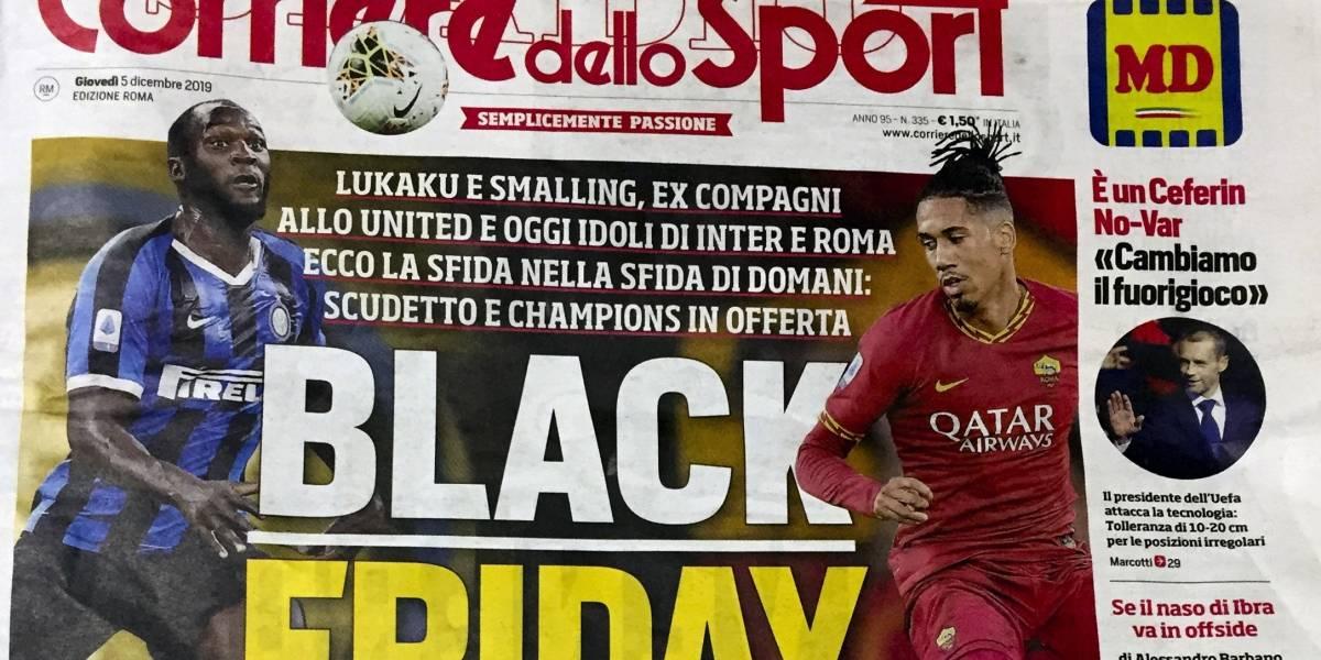 Objeto de críticas diario deportivo italiano por portada de tono racista