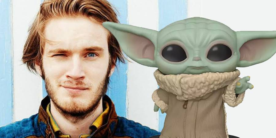Parece que PewDiePie no puede soportar que Baby Yoda sea en este momento la cosa más adorable sobre el planeta.