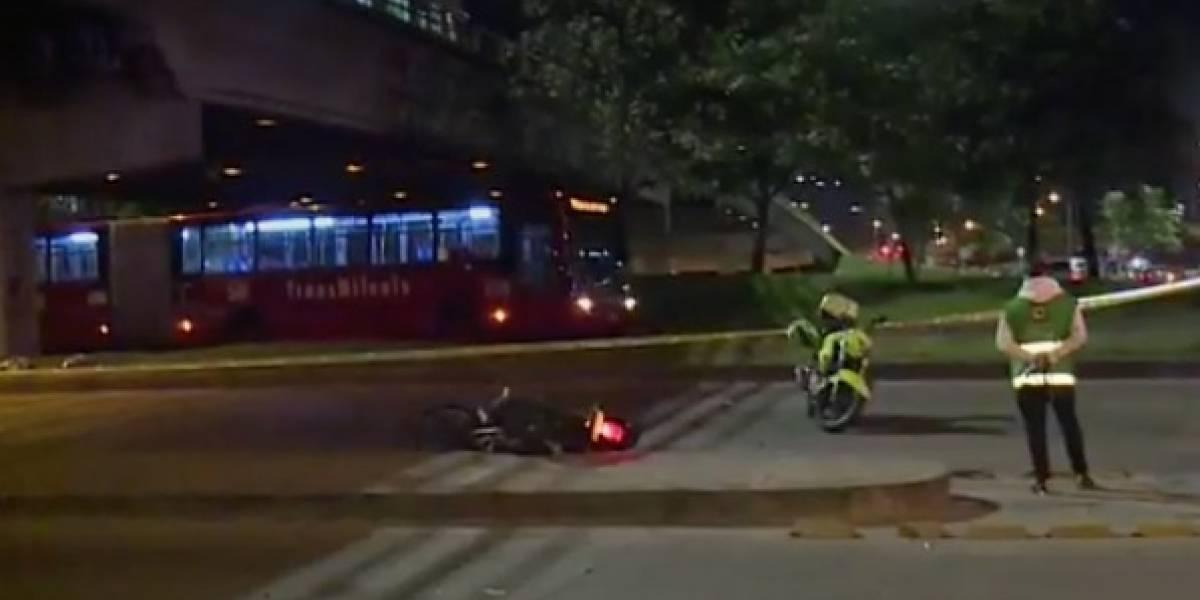Motociclista falleció en la 'curva de la muerte', en Bogotá
