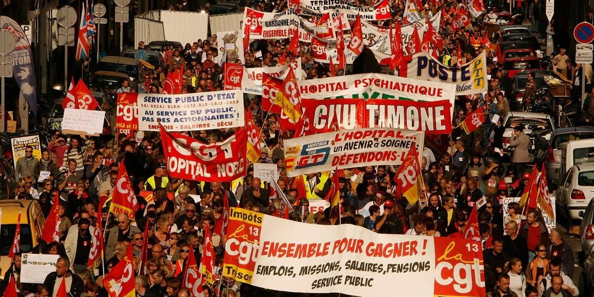 Franceses fazem greve geral contra reforma da previdência