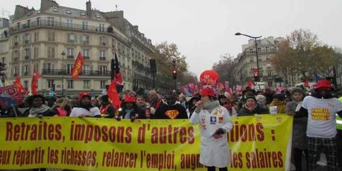Millones de trabajadores paralizaron Francia contra la previsión de Macron