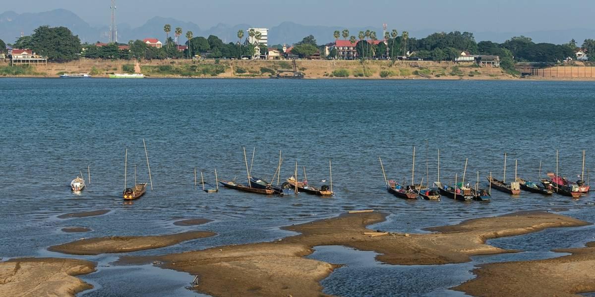Cambio de color de río Mekong da señales de alarma