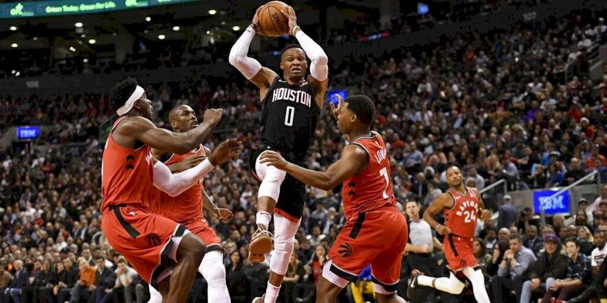 NBA: Westbrook y Harden brillaron en triunfazo de Houston Rockets sobre Toronto Raptors