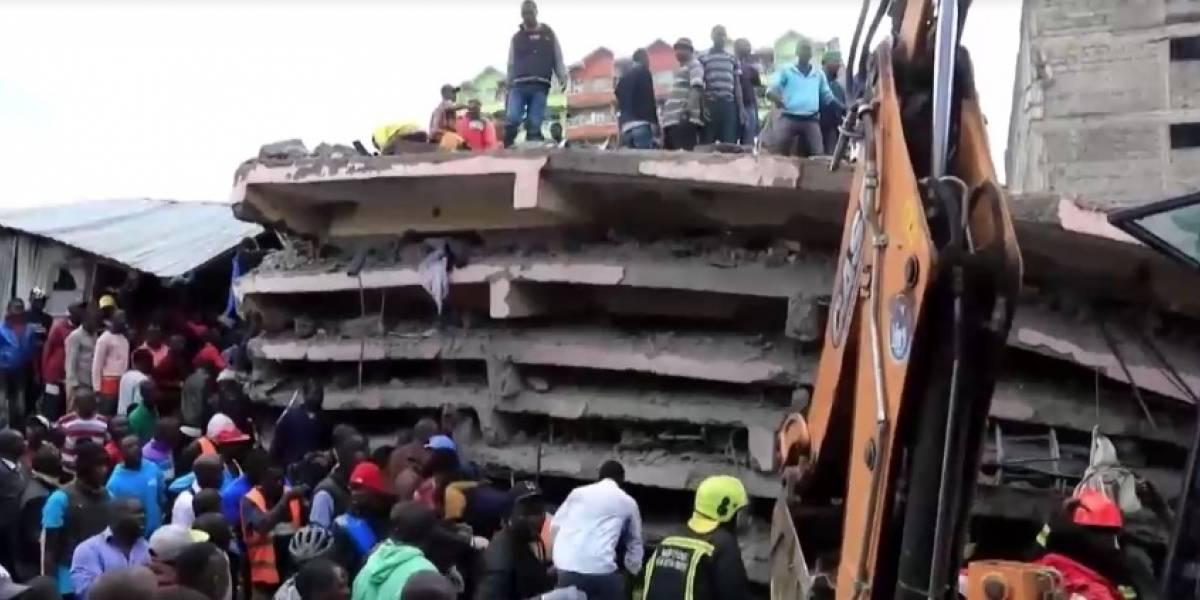 Derrumbe de edificio en Nairobi deja al menos dos muertos
