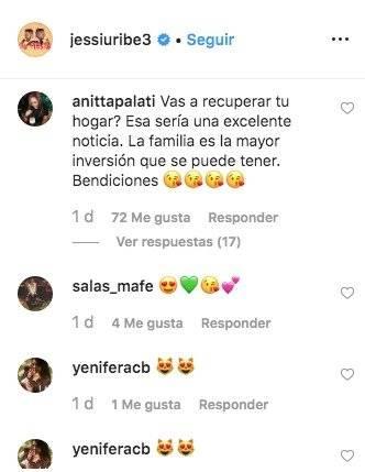 Jessi Uribe comentarios