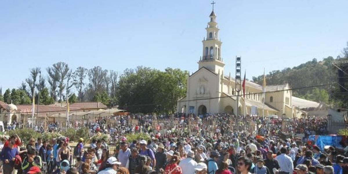 Fiesta religiosa de Lo Vásquez: miles de peregrinos y plan especial de cortes y desvíos de tránsito en la Ruta 68