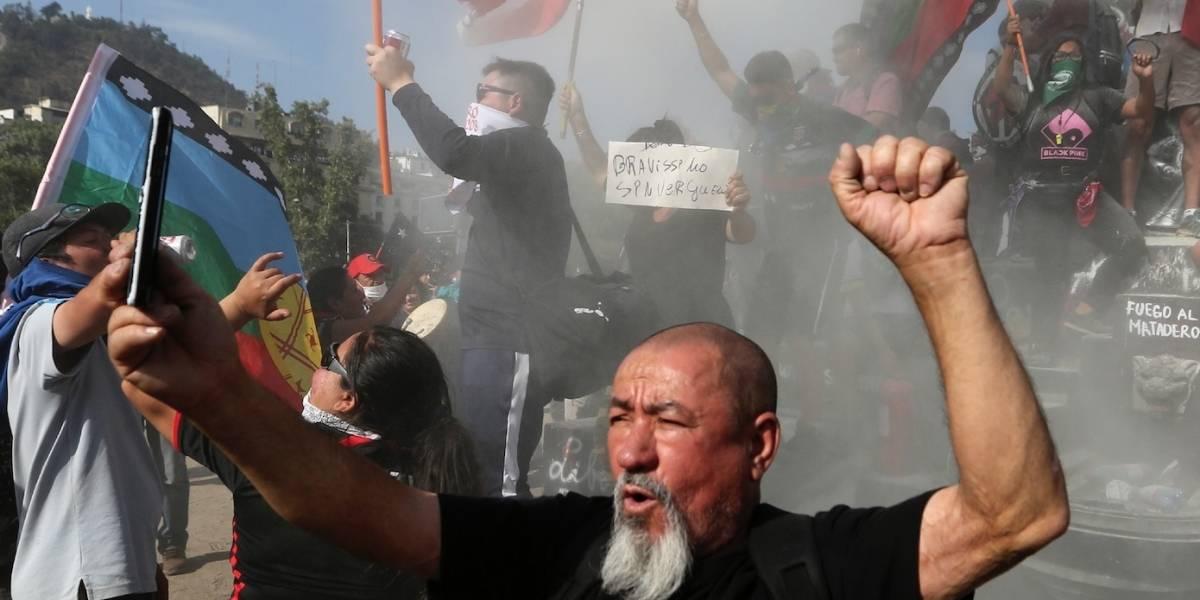 Otro viernes de protestas en la capital de Chile