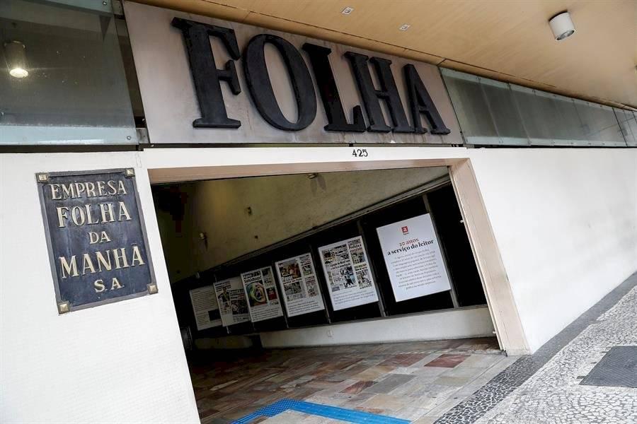 Vista de la sede del periódico brasileño Folha de S. Paulo ayer viernes, 6 de diciembre de 2019, en la ciudad de Sao Paulo EFE