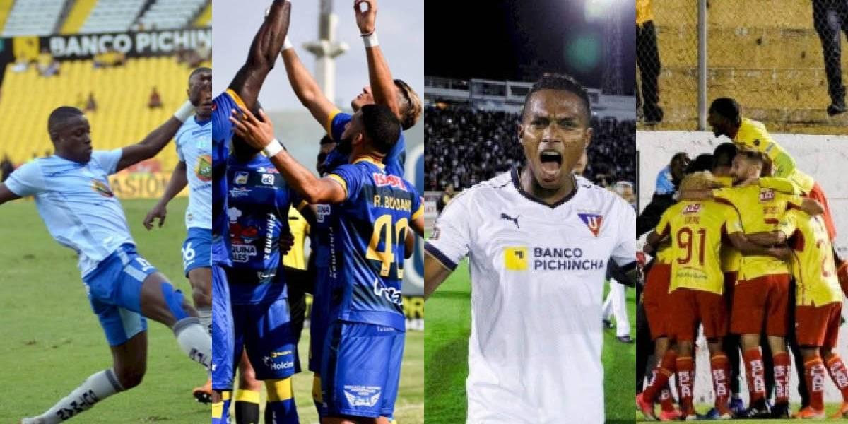 La alineación de Liga de Quito para la final de ida con Delfín