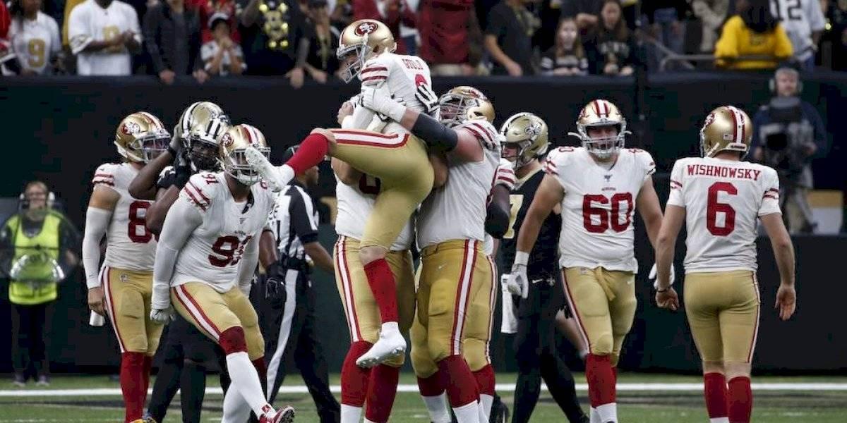 49ers supera a los Saints con un gol de campo