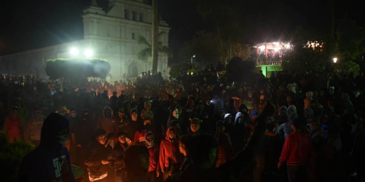 Llueven bolas de fuego en San Cristóbal Verapaz