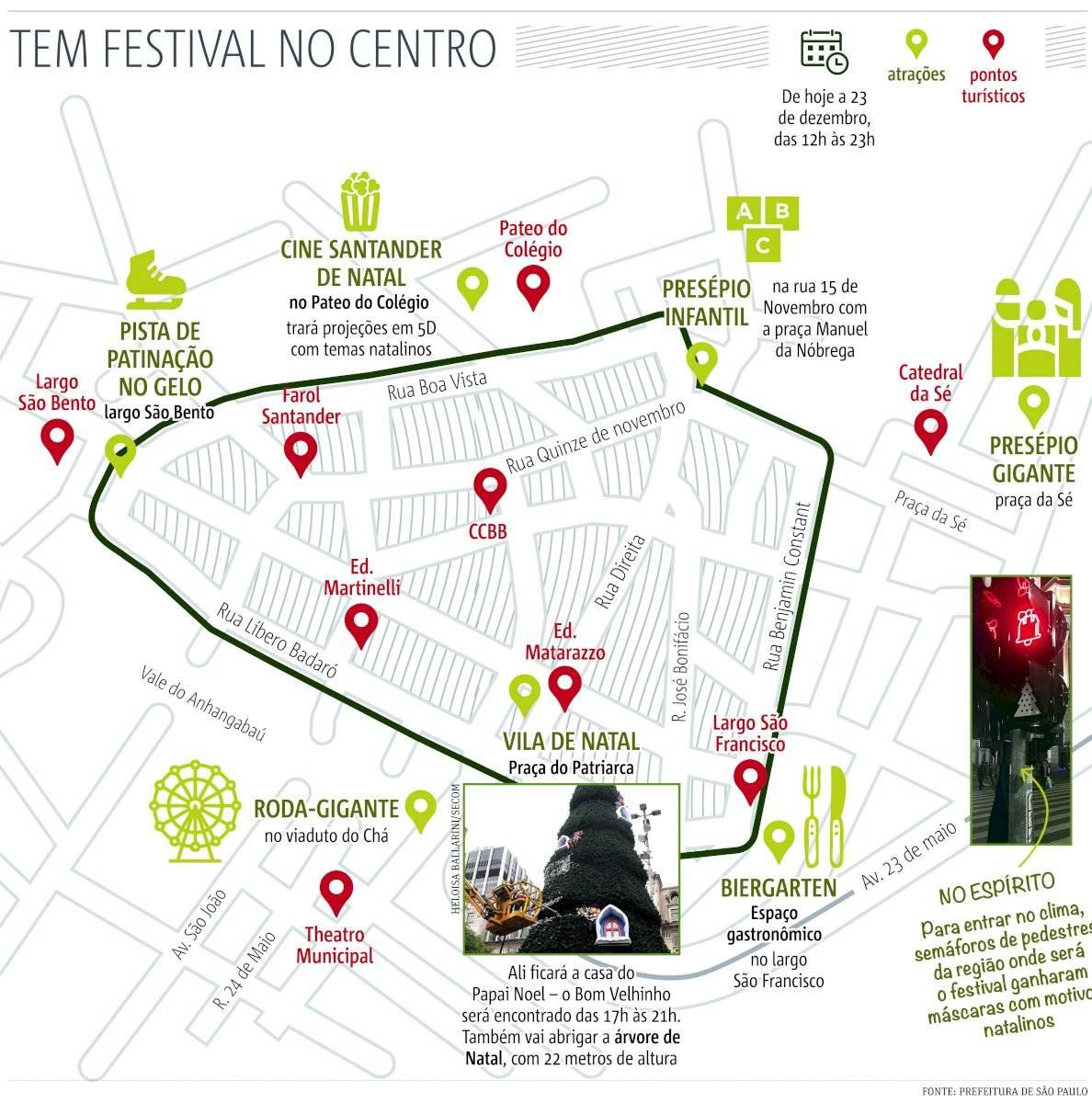 Festival de Natal - centro de São Paulo