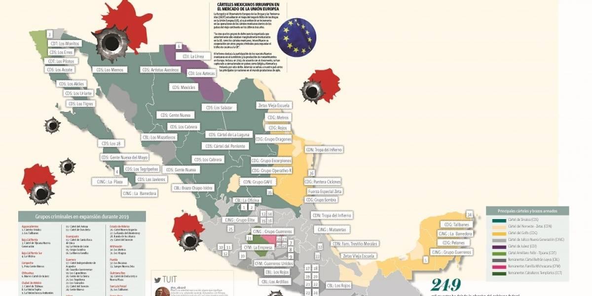 Infografía, México: Carnicería por territorio narco