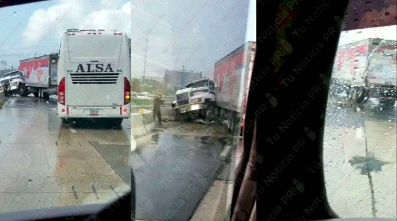 Accidente en la PR-52 con camión Suiza Dairy