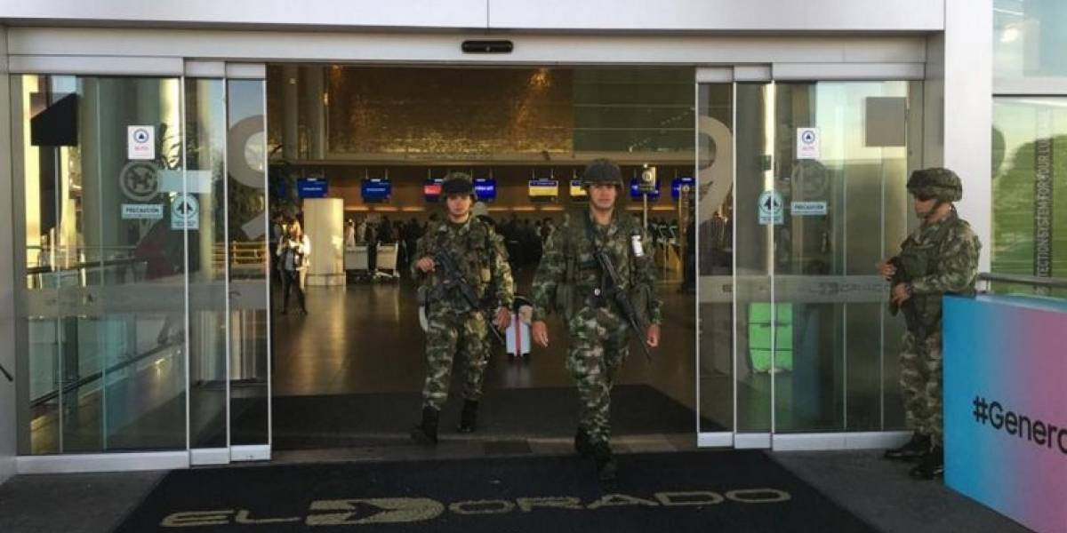 Aeropuerto El Dorado amaneció militarizado, ¿para disuadir al paro?