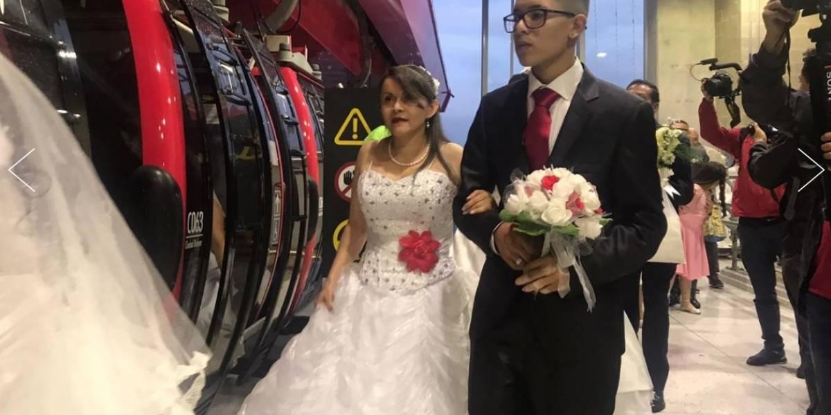 (Imágenes) 59 parejas se casaron al tiempo después de pasear en TransMiCable