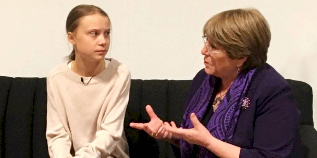 """Michelle Bachelet se reunió con Greta Thunberg en la COP25: """"Tuvimos una conversación inspiradora"""""""