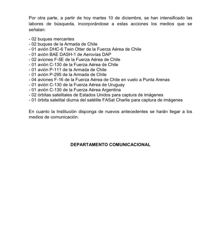 Grave: Avión Hércules de la FACH a siniestrado en el sur de Chile