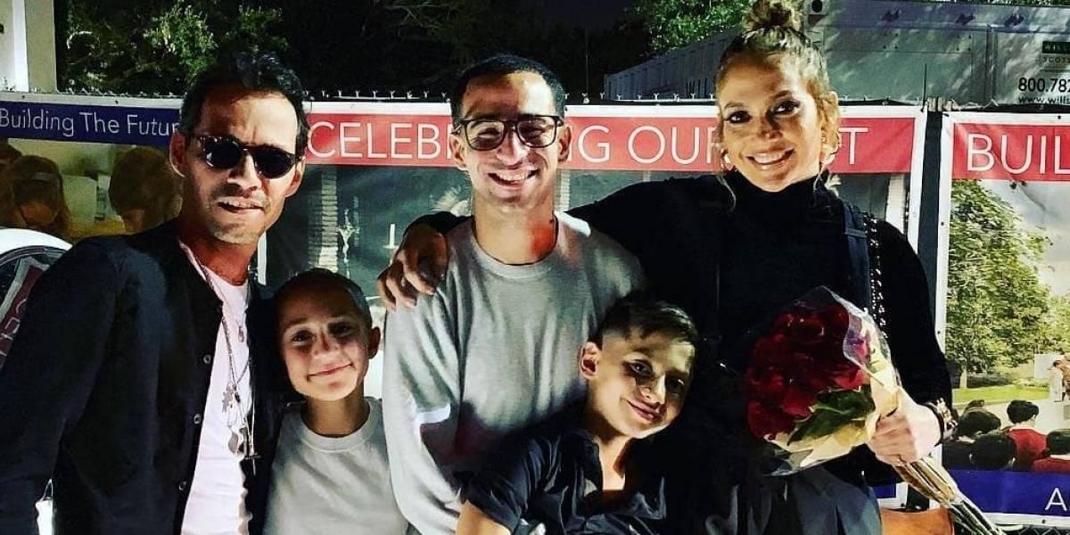 Marc Anthony desborda amor en foto con su hija Emme y Jennifer Lopez