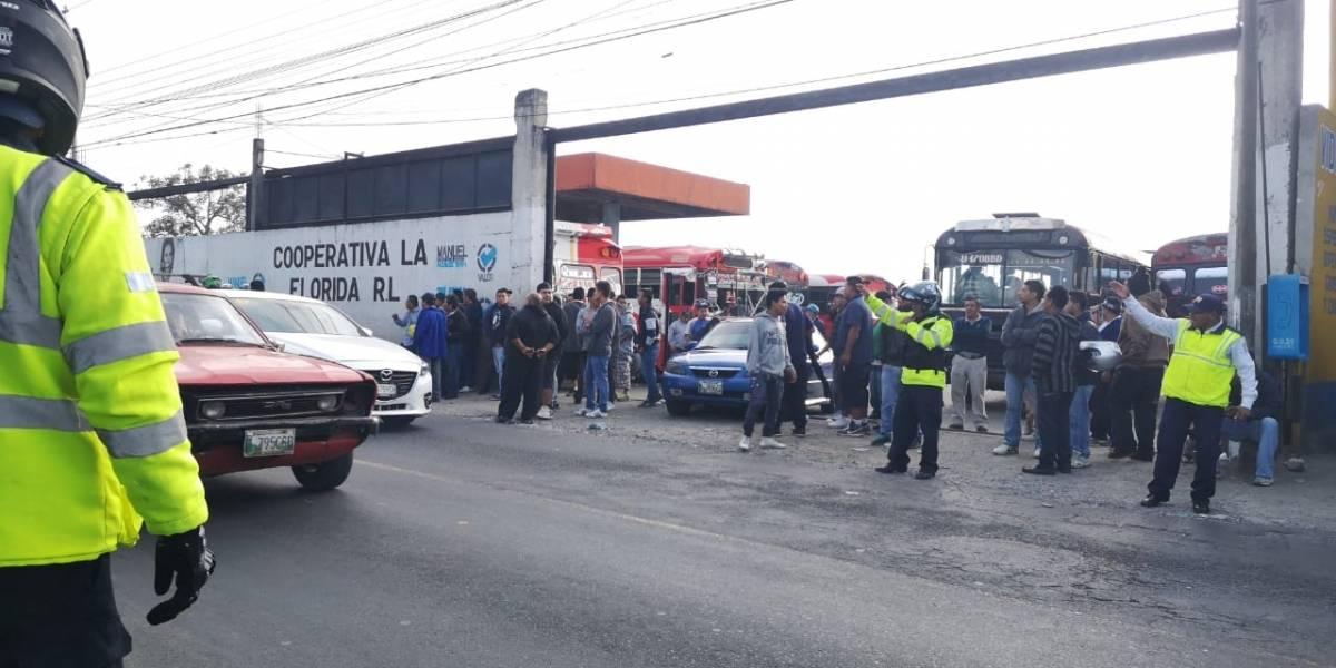 Suspenden servicio de buses de la ruta 22