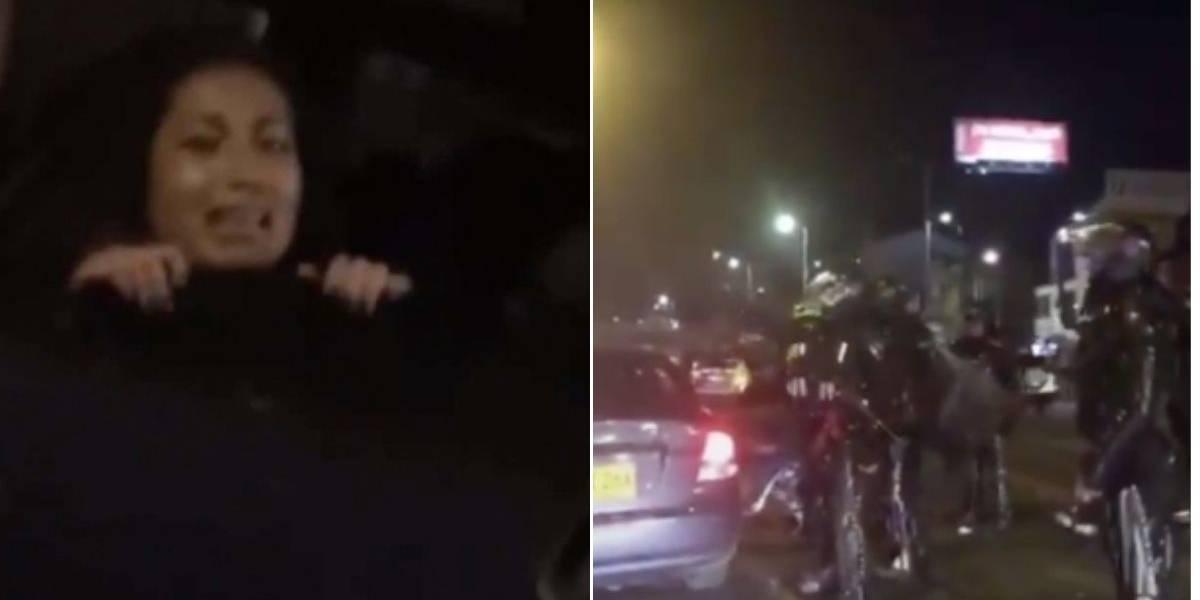 ¡Momentos de pánico! Esmad metió a la fuerza a joven estudiante a carro particular durante manifestaciones