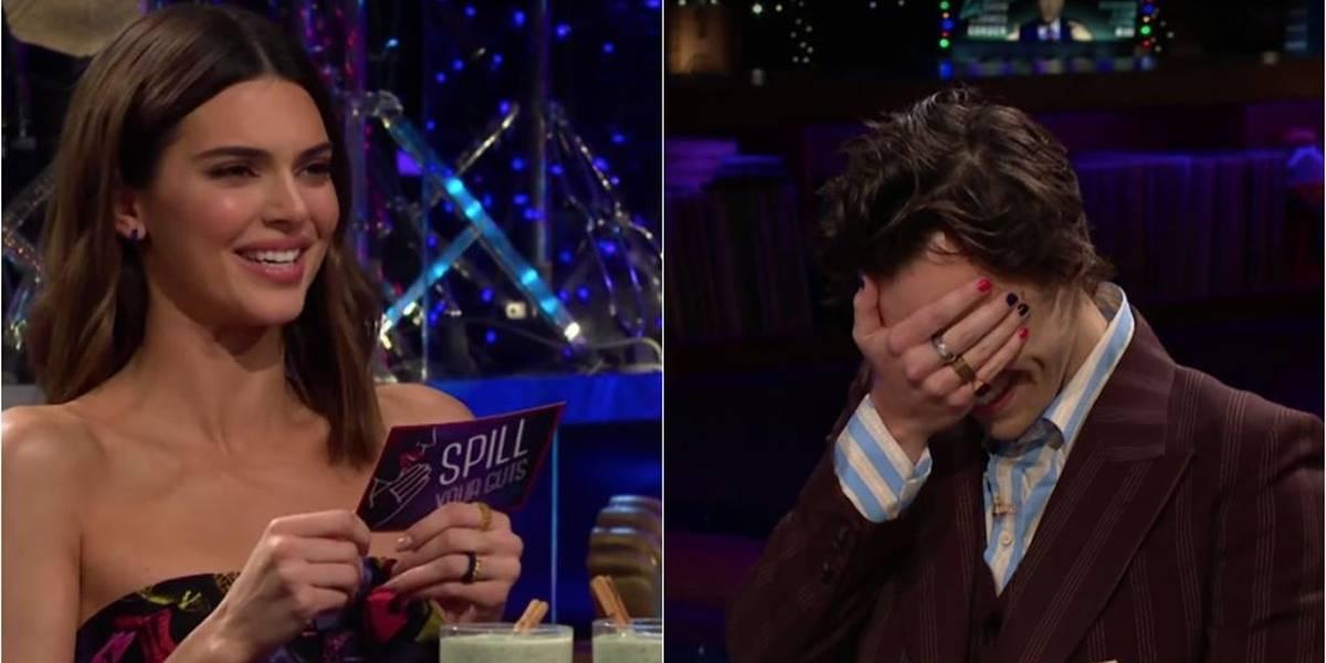 Harry Styles prefere comer nojeiras a responder perguntas para a ex, Kendall Jenner