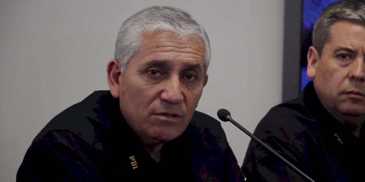 """Director de la PDI por 26% de aumento en homicidios: """"Nos hemos ido centroamericando"""""""