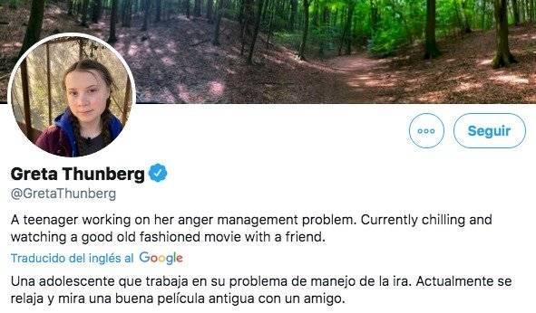 """Donald Trump """"mandó"""" al cine a Greta y ella le respondió en sus redes sociales"""