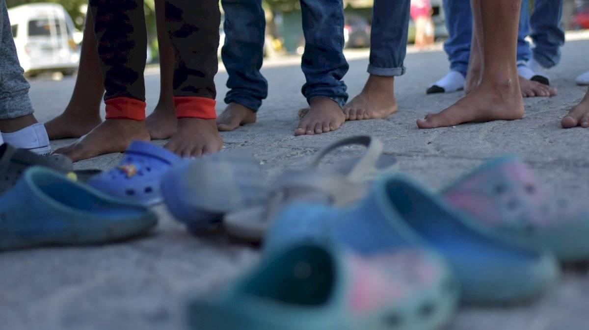 Fila de espera para el comedor de migrantes en Barranquilla. Jairo Cassiani