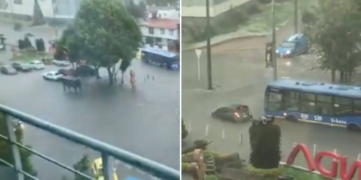 ¿Por qué se presentó fuerte aguacero en Bogotá este miércoles?