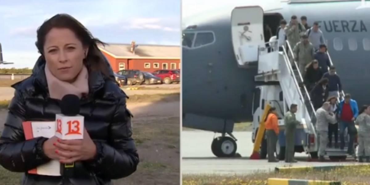 Tuiteros destrozan a Constanza Santa María tras reprochable pregunta sobre los restos del avión Hércules C-130