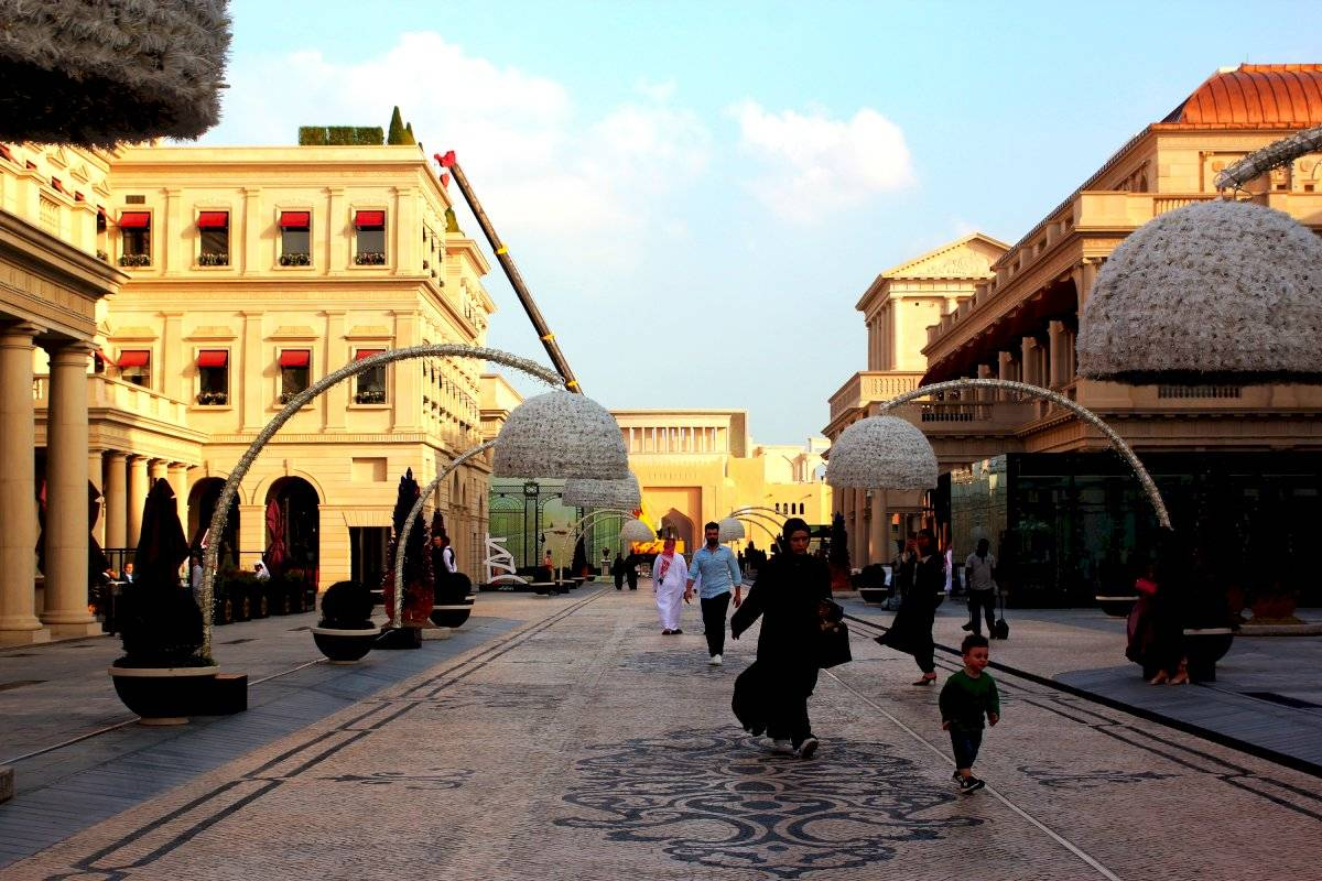 Área externa da Galeria Lafayete, centro comercial de luxo em Doha Cristiani Apolonio/Metro