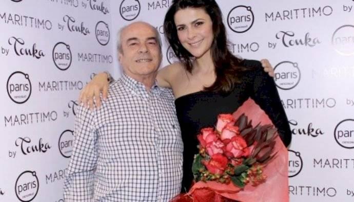 Tonka Tomicic y su papá