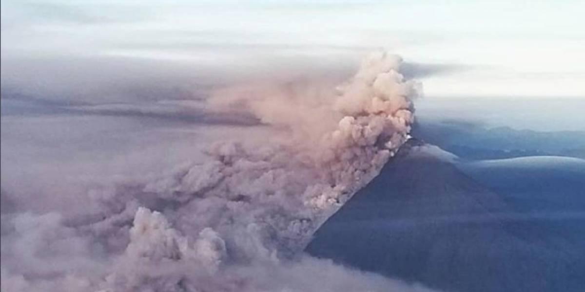 """""""Alta probabilidad"""" de caída de ceniza por volcán Sangay"""