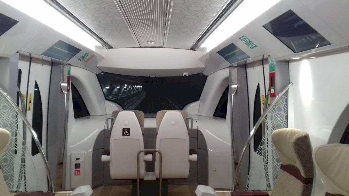 Vagão de luxo do Metrô de Doha, que acaba de ser inaugurado Cristiani Apolonio/Metro