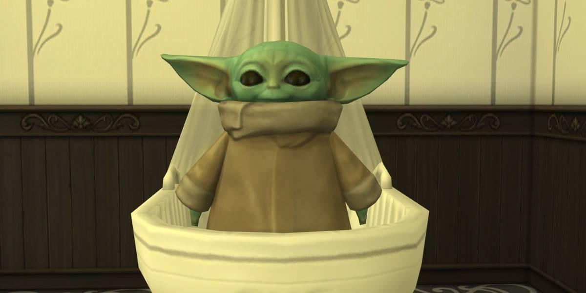 Agora você pode ter um 'baby Yoda' em sua casa... no The Sims 4