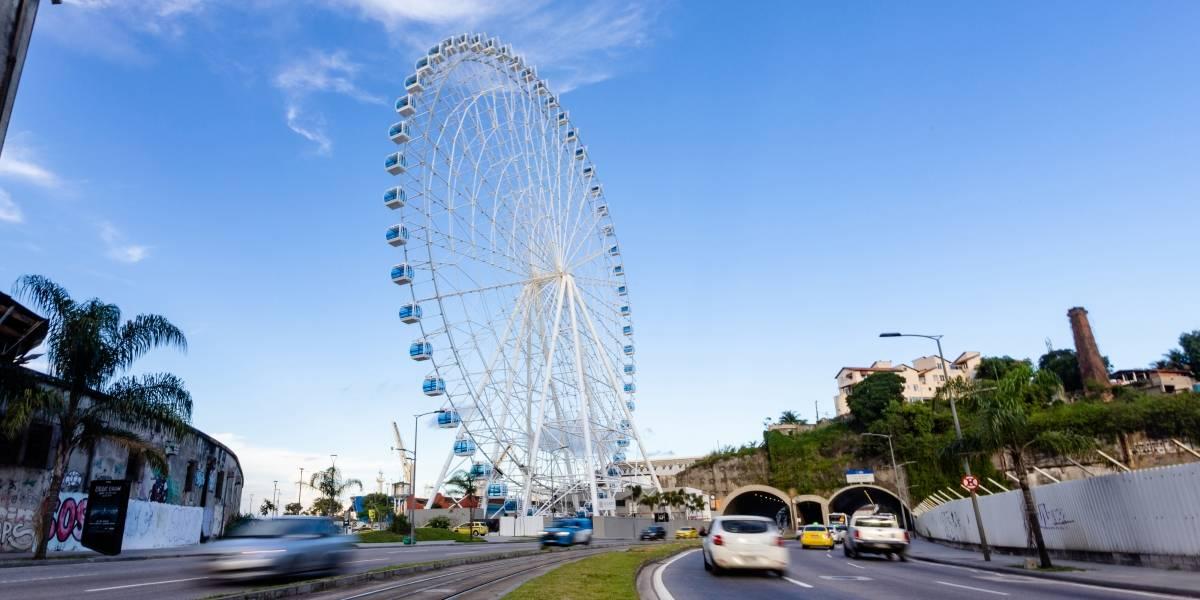 Roda-gigante do Rio de Janeiro tem vista privilegiada; conheça