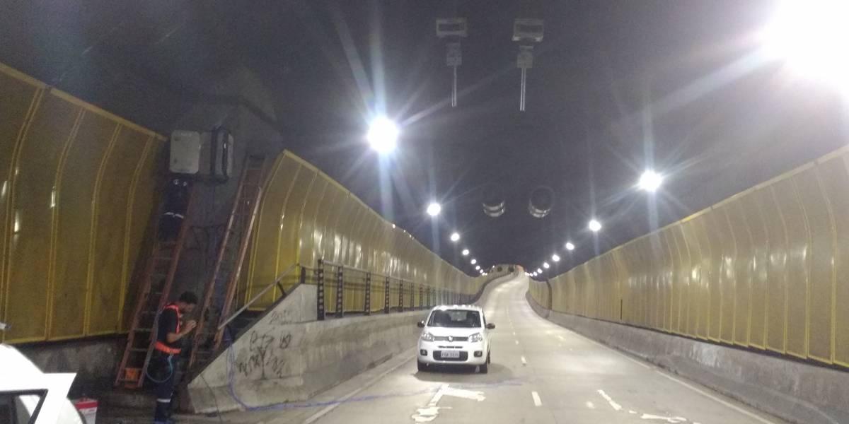 Radares começam a multar nesta segunda em 4 túneis de São Paulo