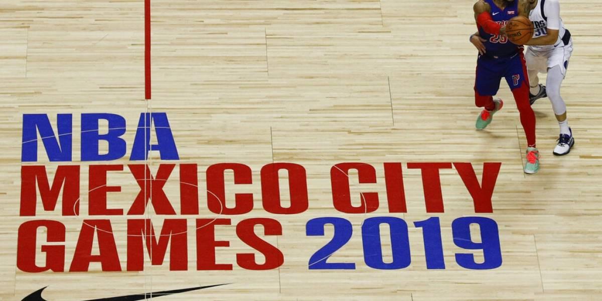 Luka Doncic brilla en México y da triunfo a Mavericks ante Pistons