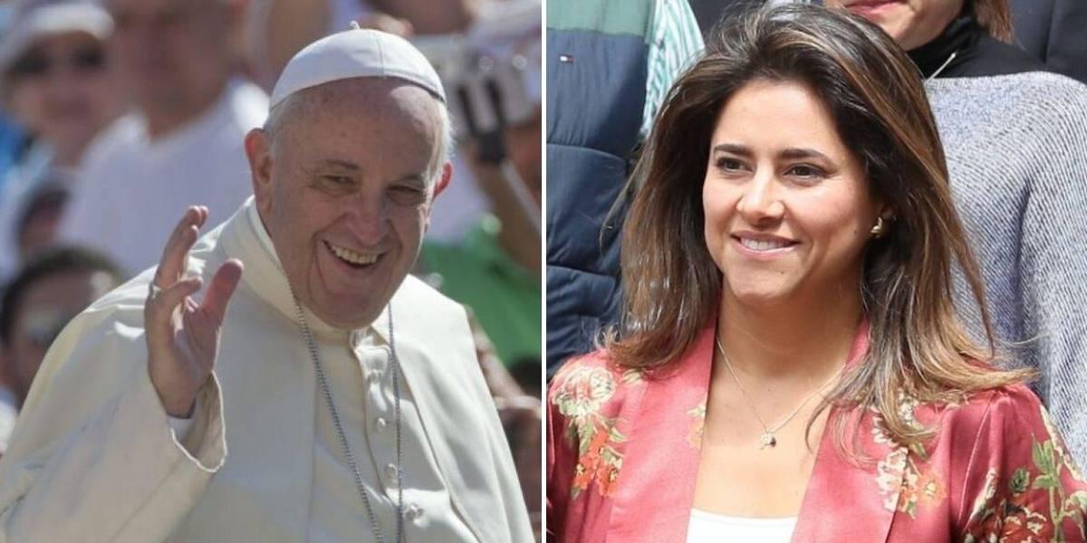 Primera dama de Colombia se reunió con el papa en Roma