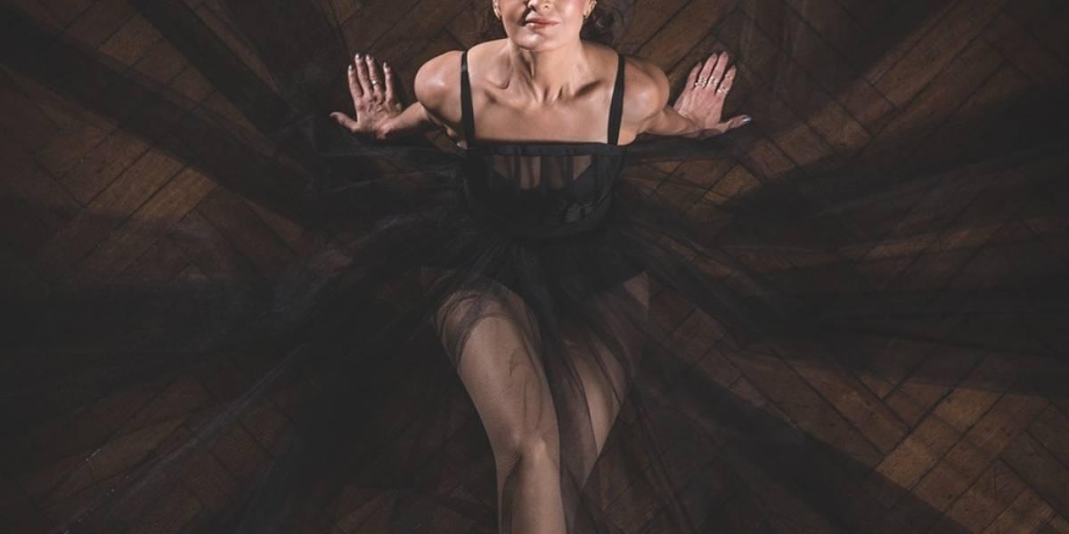 Cisne negro: Fátima Bernardes faz ensaio com trajes de bailarina