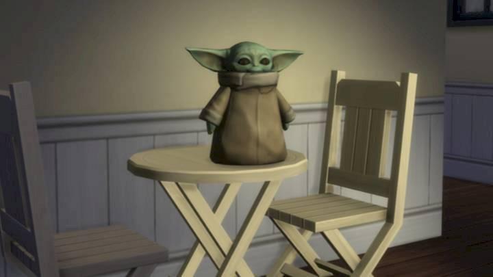 Baby Yoda vira estátua para o The Sims 4