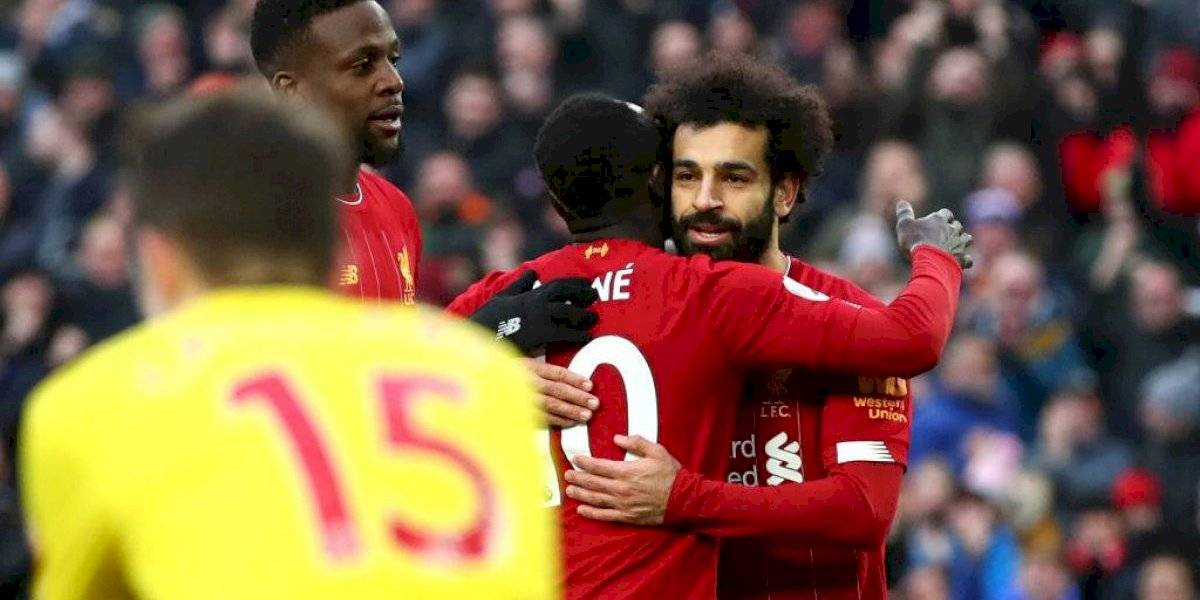 Liverpool sigue imparable en la Premier League tras vencer al Watford con doblete de Salah