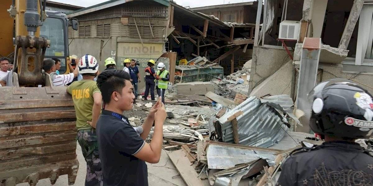 Muere una niña en un sismo en el sur de Filipinas