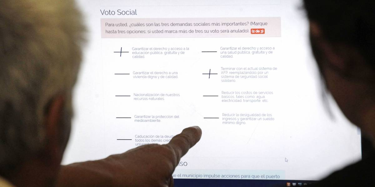 Solo con votos online la consulta ciudadana sobrepasó el millón de votantes: En redes sociales usuarios denuncian largas filas y dificultades en voto presencial en algunas comunas