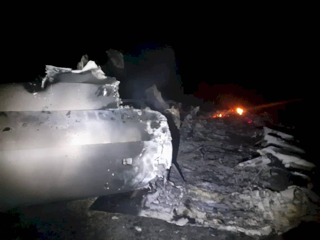 Avioneta incinerada