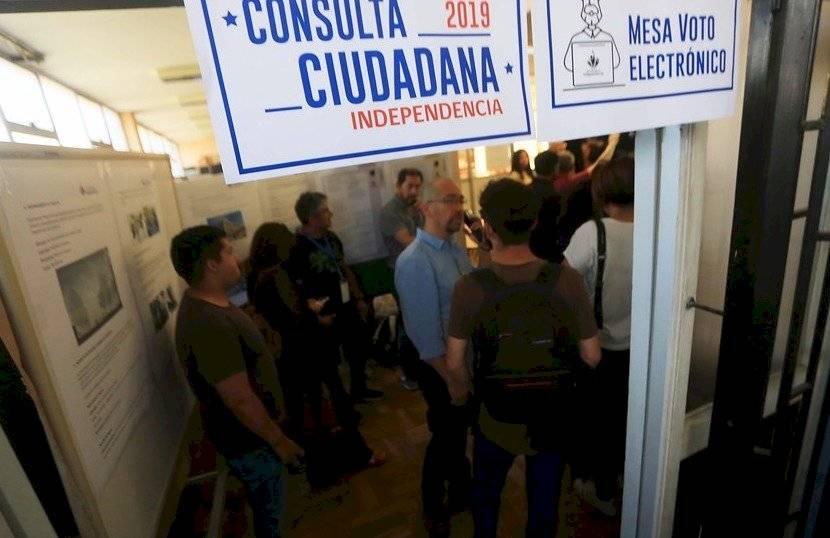 Voto electrónico en consulta ciudadana
