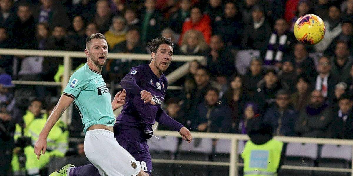 Inter de Milán empató con la Fiorentina de Pulgar y desaprovechó la oportunidad de seguir como líder exclusivo de la Serie A