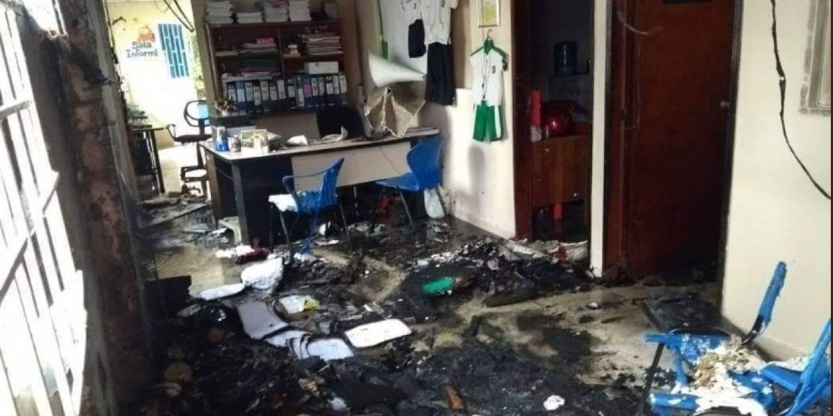 Grave incendio se presentó en jardín infantil en Santander